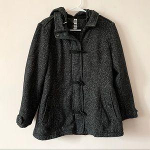 INTL d.e.t.a.i.l.s. Charcoal Gray Pea Coat